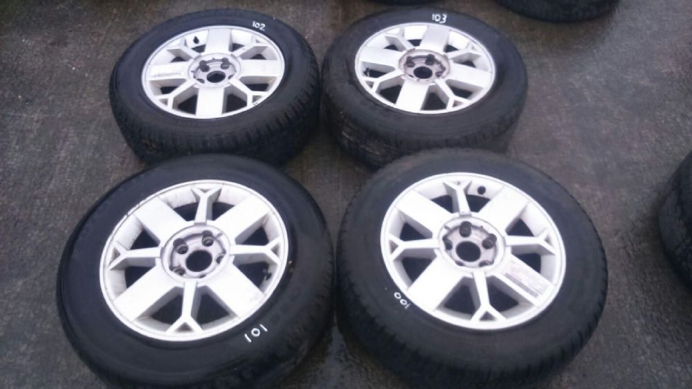 "SET OF 16"" 4 STUD ALLOY WHEELS WITH TYRES FOR A RENAULT SCENIC RX4"